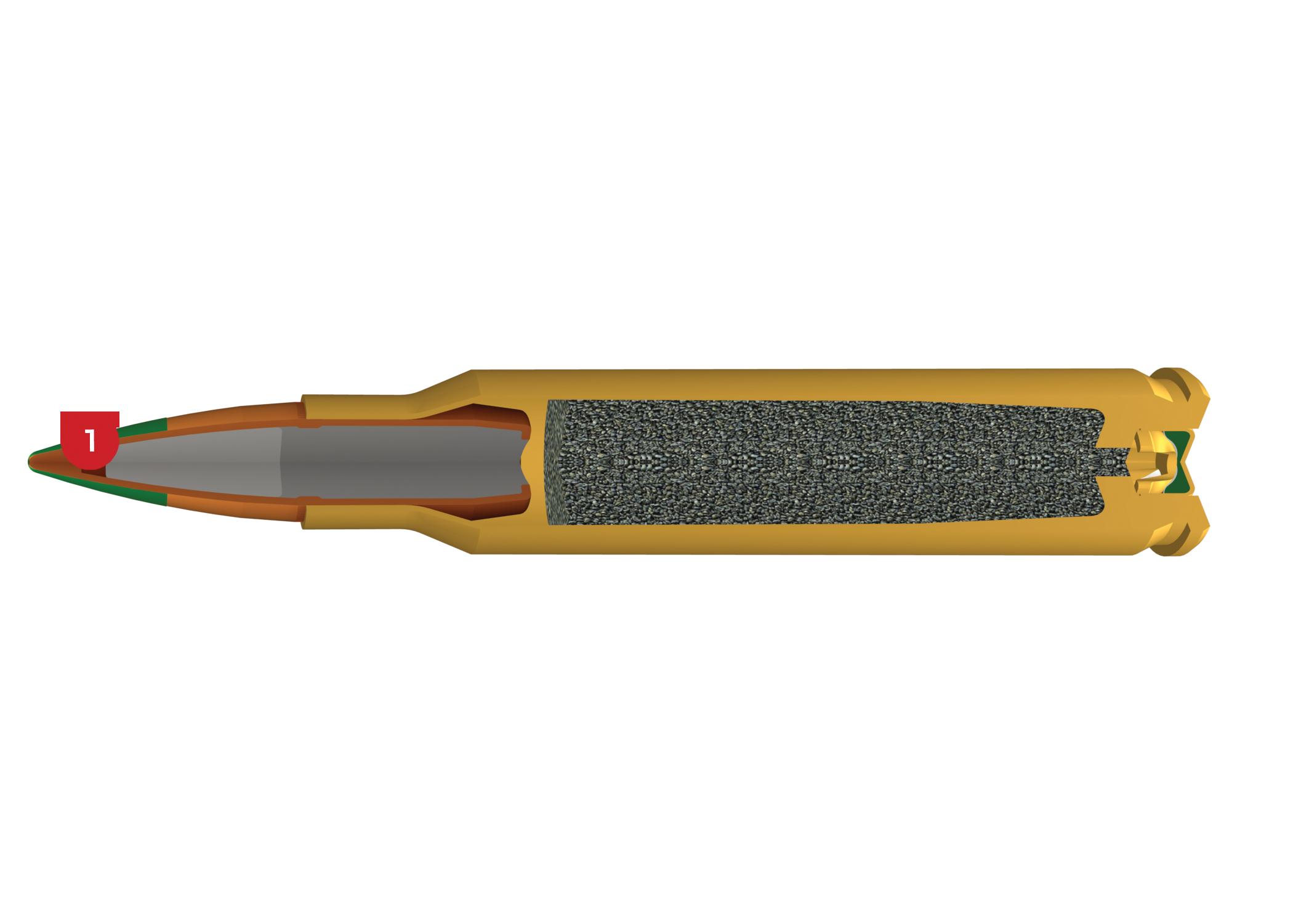 5.56mm, 62 Grain Features